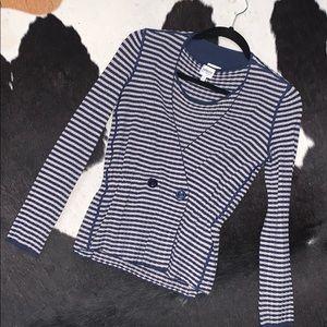 Armani Collection knit sweater & shell 2-piece set